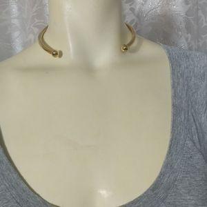 EDDIE BORGO Gold Plated Hinge Necklace